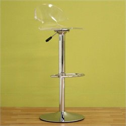 Baxton Studio Stool in Clear (Set of 2)