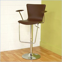 Baxton Studio Bar Stool in Brown