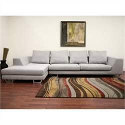 Baxton Studio 2 Piece Sectional in Gray
