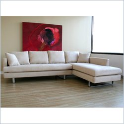 Baxton Studio Sectional Sofa in Off White