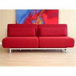 Baxton Studio 2 Seat Sofa Chair in Red