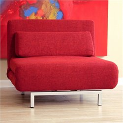 Baxton Studio Accent Chair in Red