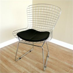 Baxton Studio Bertoia Side Chair in Silver (Set of 2)