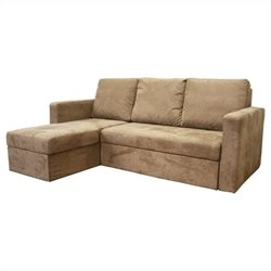 Linden Convertible Sectional in Tan