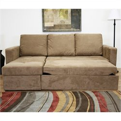 Baxton Studio Linden Convertible Sectional in Tan
