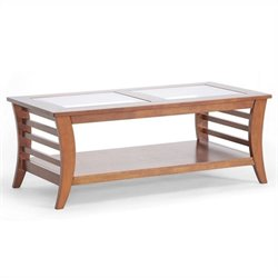Baxton Studio Allison Coffee Table in Honey Brown Stain