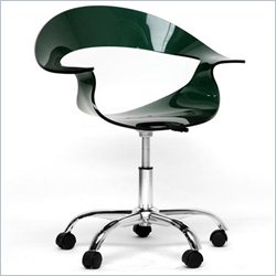 Baxton Studio Elia Swivel Chair in Steel Gray and Deep Green