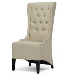 Baxton Studio Vincent Tufted Accent Chair in Beige