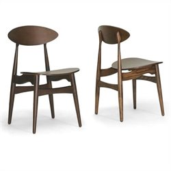 Baxton Studio Ophion Dining Chair in Brown (Set of 2)