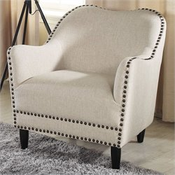 Baxton Studio Seibert Accent Arm Chair in Beige