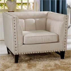 Baxton Studio Stapleton Accent Chair in Beige