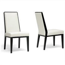 Baxton Studio Theia Dining Chair in Cream (Set of 2)
