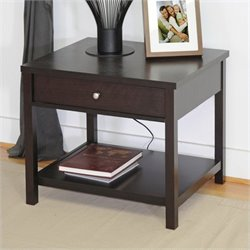 Baxton Studio Nashua Accent Table and Nightstand in Dark Brown