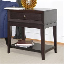Baxton Studio Morgan Accent Table and Nightstand in Dark Brown