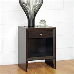 Baxton Studio Leelanau Accent Table and Nightstand in Dark Brown