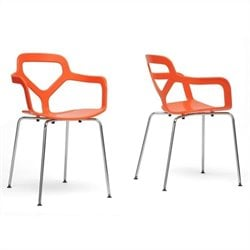 Miami Dining Chair in Orange (Set of 2)