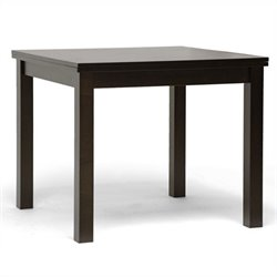 Baxton Studio Paxton Dining Table in Dark Brown