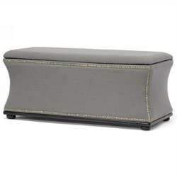 Baxton Studio Liverpool Storage Ottoman and Bench in Beige