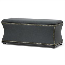 Baxton Studio Liverpool Storage Ottoman and Bench in Gray