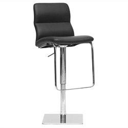 Baxton Studio Helsinki Bar Stool in Black