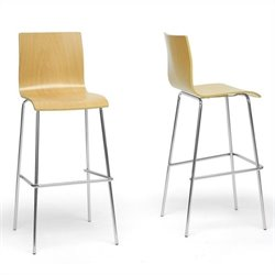 Baxton Studio Sydney Bar Stool in Natural (Set of 2)