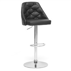 Baxton Studio Salzburg Bar Stool in Black