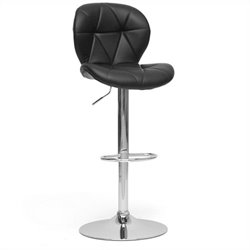 Baxton Studio Warsaw Bar Stool in Black(Set of 2)