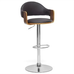 Baxton Studio Berne Bar Stool in Black