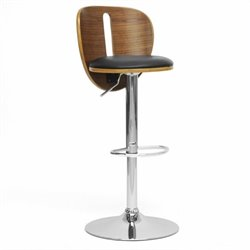 Baxton Studio Athens Bar Stool in Black