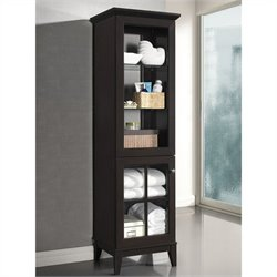 Baxton Studio Nelson Tower in Dark Brown