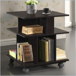 Baxton Studio Warren Storage Shelf in Dark Brown