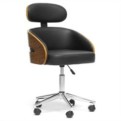 Baxton Studio Kneppe Office Chair in Black