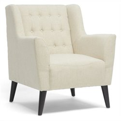 Baxton Studio Berwick Arm Chair in Beige