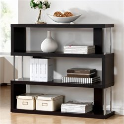 Baxton Studio Barnes Bookcase in Dark Brown