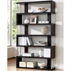 Baxton Studio Barnes Modern Bookcase in Dark Brown