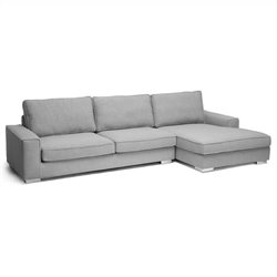 Baxton Studio Brigitte Sectional Sofa in Gray