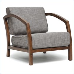 Baxton Studio Velda Accent Chair in Brown