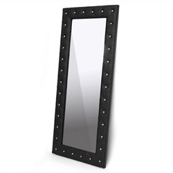 Baxton Studio Stella Floor Mirror in Black