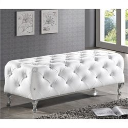 Baxton Studio Stella Bench in White