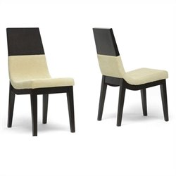 Baxton Studio Prezna Dining Chair in Beige (Set of 2)