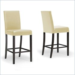 Baxton Studio Torino Bar Stool in Cream (Set of 2)