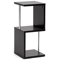 Baxton Studio Lindy 2-Tier Display Shelf in Dark Brown