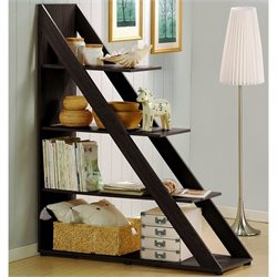Baxton Studio Psinta Shelving Unit in Dark Brown