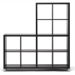 Baxton Studio Sunna Cube Shelving Unit in Dark Brown