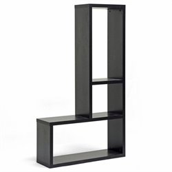 Baxton Studio Rupal Display Shelf in Dark Brown