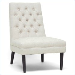 Baxton Studio Zinnia Accent Chair in Beige