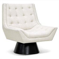 Baxton Studio Tamblin Accent Chair in Beige