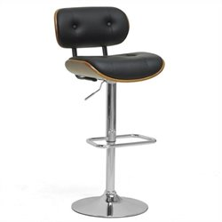Baxton Studio Leona Bar Stool in Black