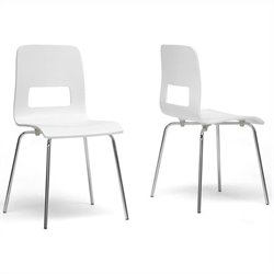 Greta Dining Chair in White (Set of 2)