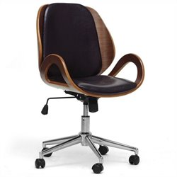 Baxton Studio Watson Office Chair in Black
